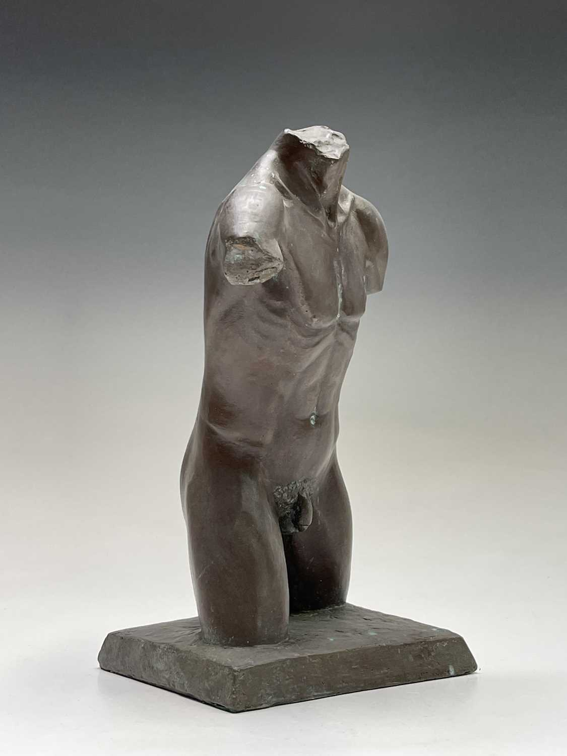 Alec WILES (1924)Males Torso Bronzed resin sculpture Signed and dated 1995Height 27cm - Image 3 of 10