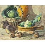 Garlick BARNES (1891-1987)Still Life - Vegetables Oil on canvas Signed 41 x 51cm Garlick Barnes