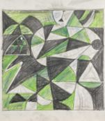 Gordon HOUSE (1932-2005) Collection of original print designs, artist notes, and a letter to the