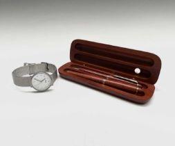 A Braun gentleman's watch and a Rolls-Royce Enthusiast's Club pen set