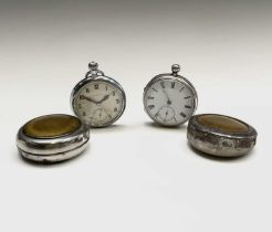 A nickel cased keyless military pocket watch by Leonidas the back marked GSTP 145553 Bravingtons (