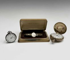 An Elgin National Watch Co full hunter gold plated pocket watch with keyless movement signed G M