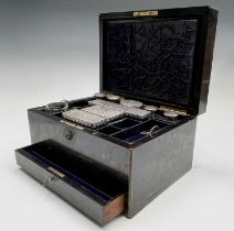 A fine Victorian rosewood veneered and brass bound toilet case by Howell, James and Co, Regent