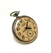 A keyless pocket watch inscribed 'Patek Philippe Geneve'.Condition report: Doesn't work