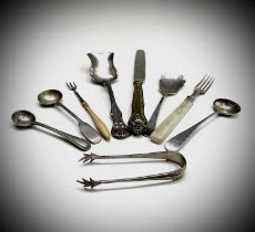 Silver flatware 137gm totalCondition report: The small fork seems to be unmarked