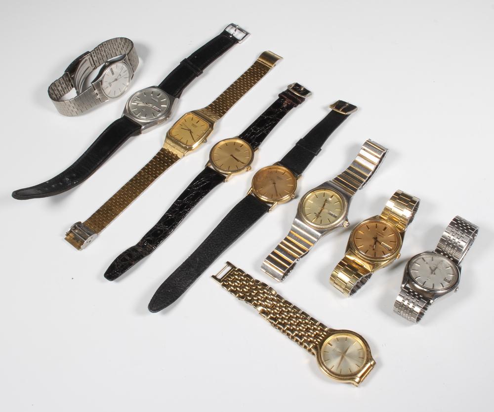 A quantity of gentleman's Seiko wristwatches
