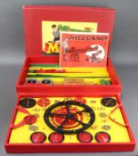 A No.9 Meccano set together with instructions for Outfit no.6 7/8 9 and O2E