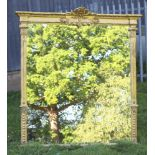 A 19th Century style plate over mantel mirror contained in a decorative gilt frame 150cm h x 138cm w
