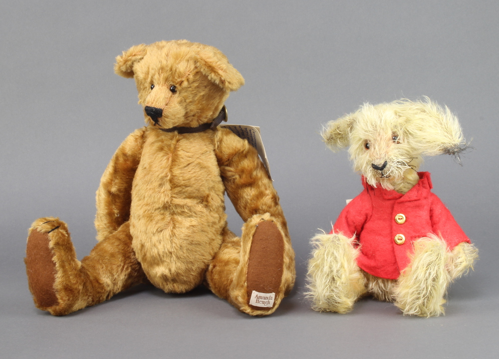 Amanda Heugh limited edition figure of a bear 39cm together with an Oakley Bear limited edition