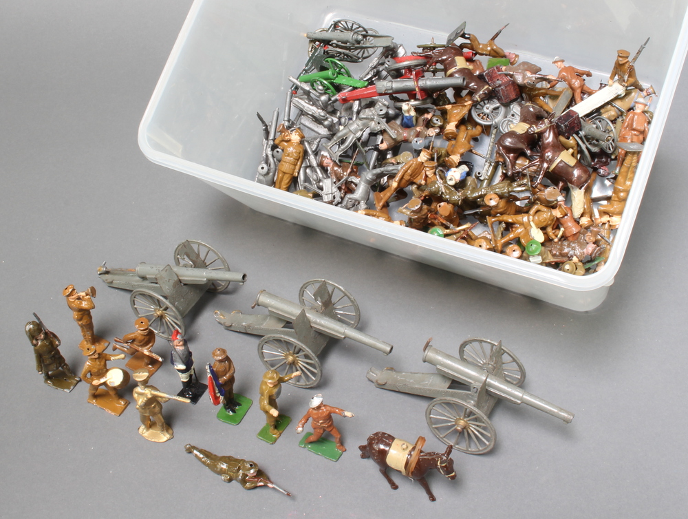 A large collection of Britains, Johillco and other lead First and Second World War toy solders