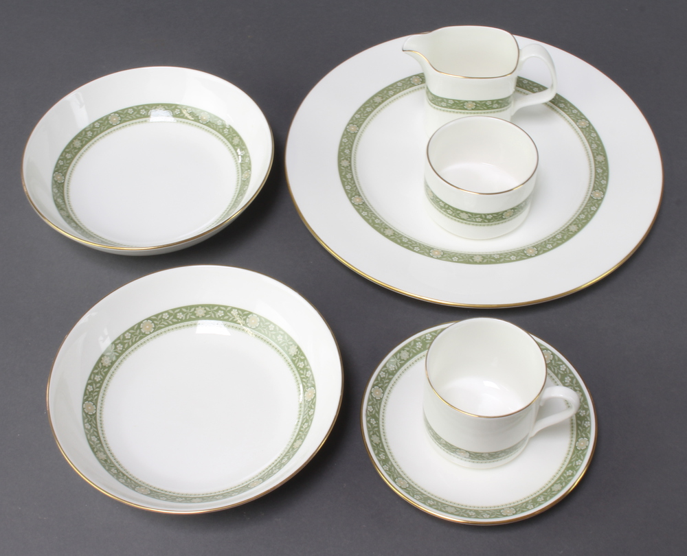 A Royal Doulton Rondelay part coffee and dinner service comprising 6 coffee , 6 saucers, milk jug,