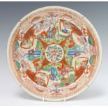 A 19th Century Chinese famille rose plate decorated with figures in gardens 29cm