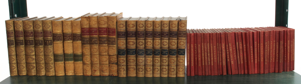"""George Miller volumes 1-4 """"History, Philosophically"""" leather bound and published by H G Bohn 1849,"""