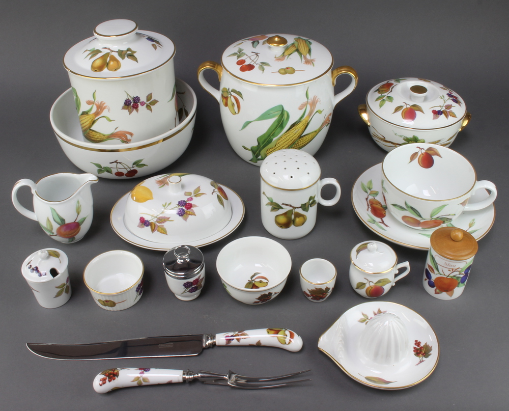 An extensive Royal Worcester Evesham tea, coffee, dinner and table service comprising a 3 piece