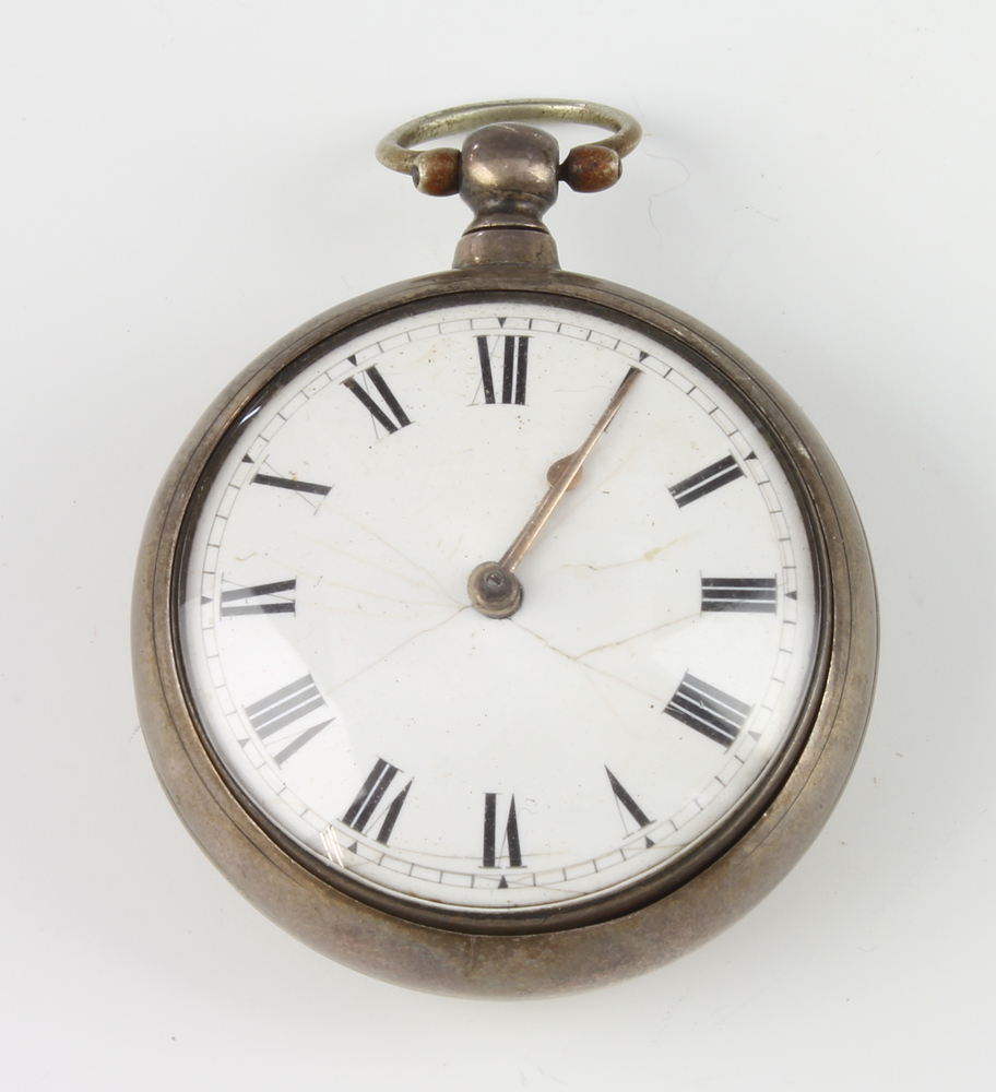 A George IV silver keywind pocket watch London 1825, the movement inscribed Chapman Gravesend The