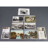 A collection of coloured and other postcards