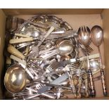 A plated ladle and minor plated cutlery