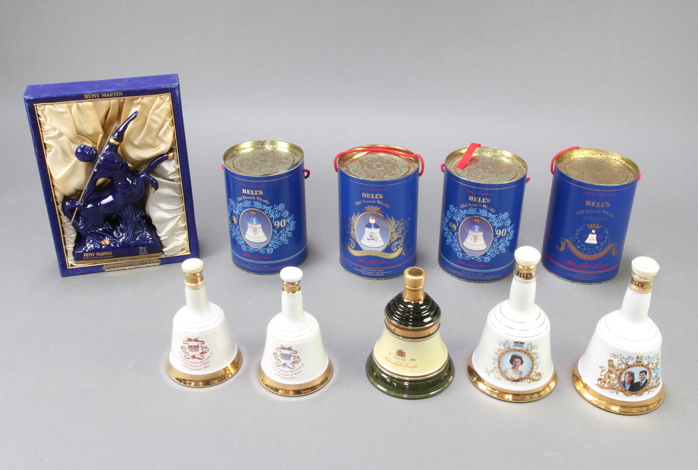 Remy Martin, a 1980's Limoges decanter in the form of a centaure containing brandy (the cork is