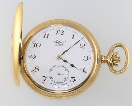 A gentleman's gold plated half hunter pocketwatch, the dial inscribed Rapport with seconds at 6 o'