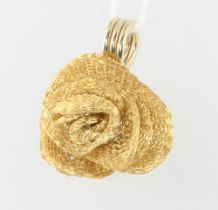 A 14ct yellow gold floral pendant, 5.6 grams, 25mm