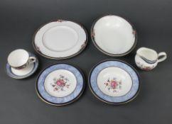 A Royal Doulton Centennial rose pattern part tea and dinner service comprising 9 tea cups, 9