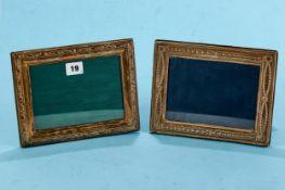 AN ELIZABETH II CELTIC DESIGN SILVER PHOTO FRAME of rectangular form, maker: RC, 2000, 9 ins x 8 ins