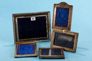 A LARGE RECTANGULAR SILVER BEADED BORDER PHOTO FRAME, stamped RC 925 (scratches to front), 10 ins