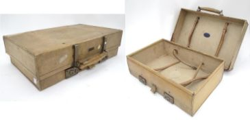 "A vellum trunk. Approx. 24"" wide Please Note - we do not make reference to the condition of lots"