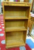 "An early 20thC small oak bookcase. Approx. 48 1/4"" tall Please Note - we do not make reference to"