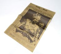 Royal memorabilia : Reproduction - Special gold edition of daily mail for the 1953 Coronation Please