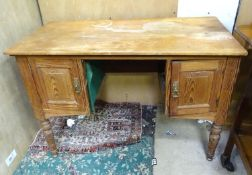 "An early 20thC pine desk / wash stand. Approx. 41 1/2"" wide Please Note - we do not make reference"