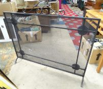 "A cast iron fire guard with rosette detail. Approx. 48"" wide Please Note - we do not make reference"
