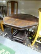 "An Edwardian octagonal side table. Approx. 29 3/4"" wide Please Note - we do not make reference to"