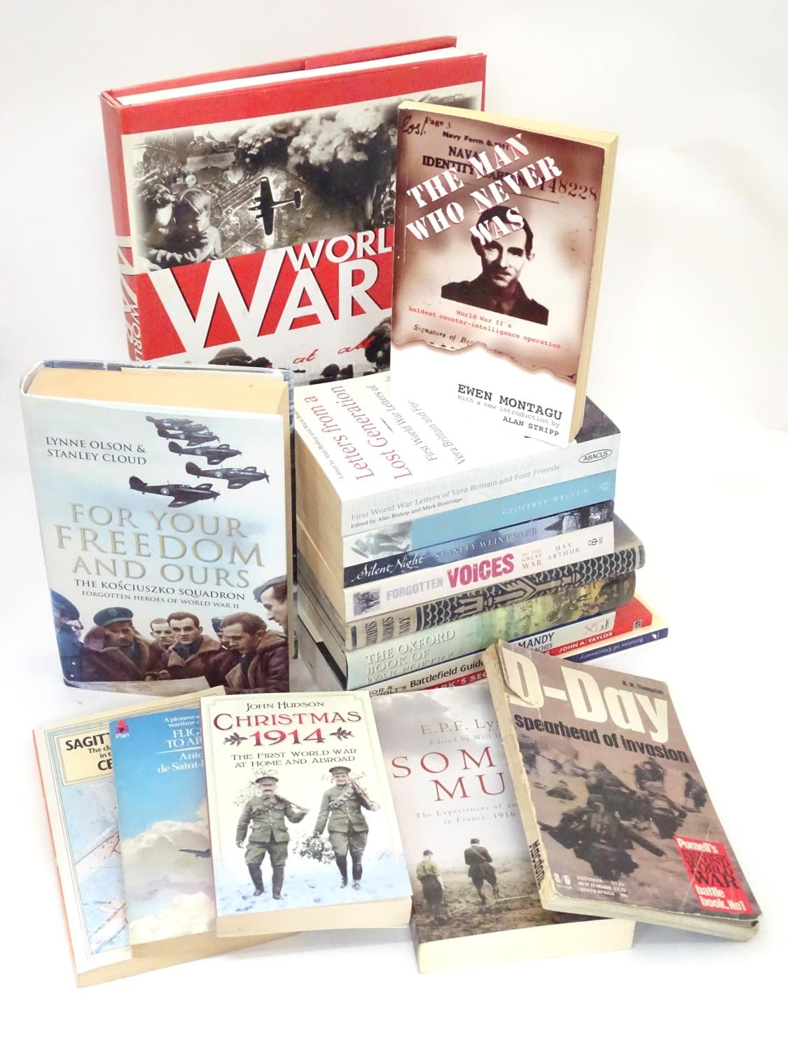 A quantity of books on the subjects of the First and Second World Wars Please Note - we do not