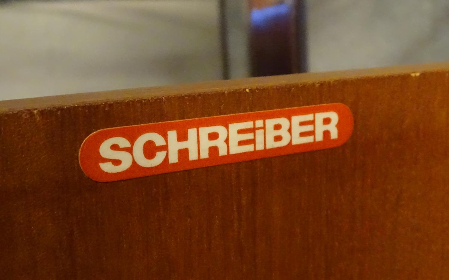 Vintage Retro, Mid Century: a Schreiber dresser bookcase, in teak finish with three shelves and - Image 2 of 7