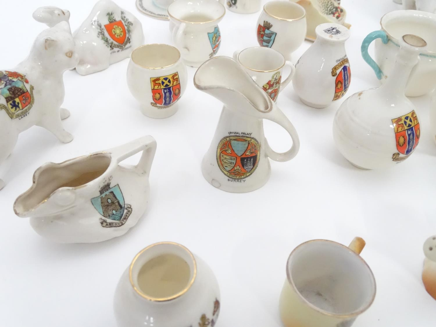 A quantity of Crested Ware to include Leicester camel, Blackpool rabbit, Lowestoft frog, etc. Please - Image 3 of 21