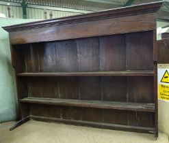 A 18th / 19thC oak plate rack Please Note - we do not make reference to the condition of lots within