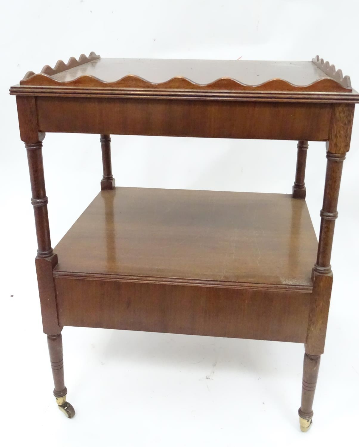 A small mahogany etagere Please Note - we do not make reference to the condition of lots within - Image 4 of 5