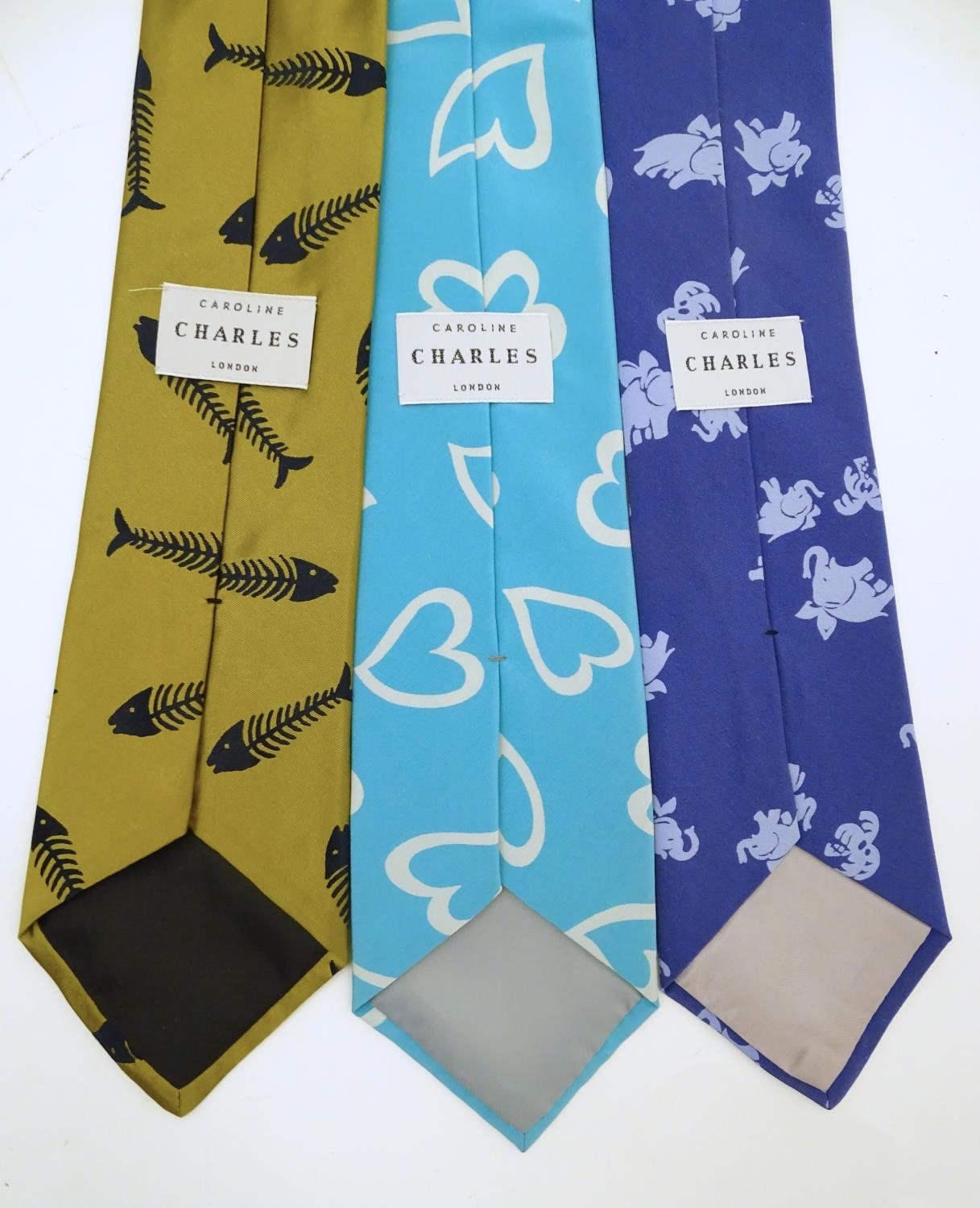 Vintage clothing/ fashion: 6 silk ties in various colours and patterns by Yves Saint Laurent, Nicole - Image 9 of 10