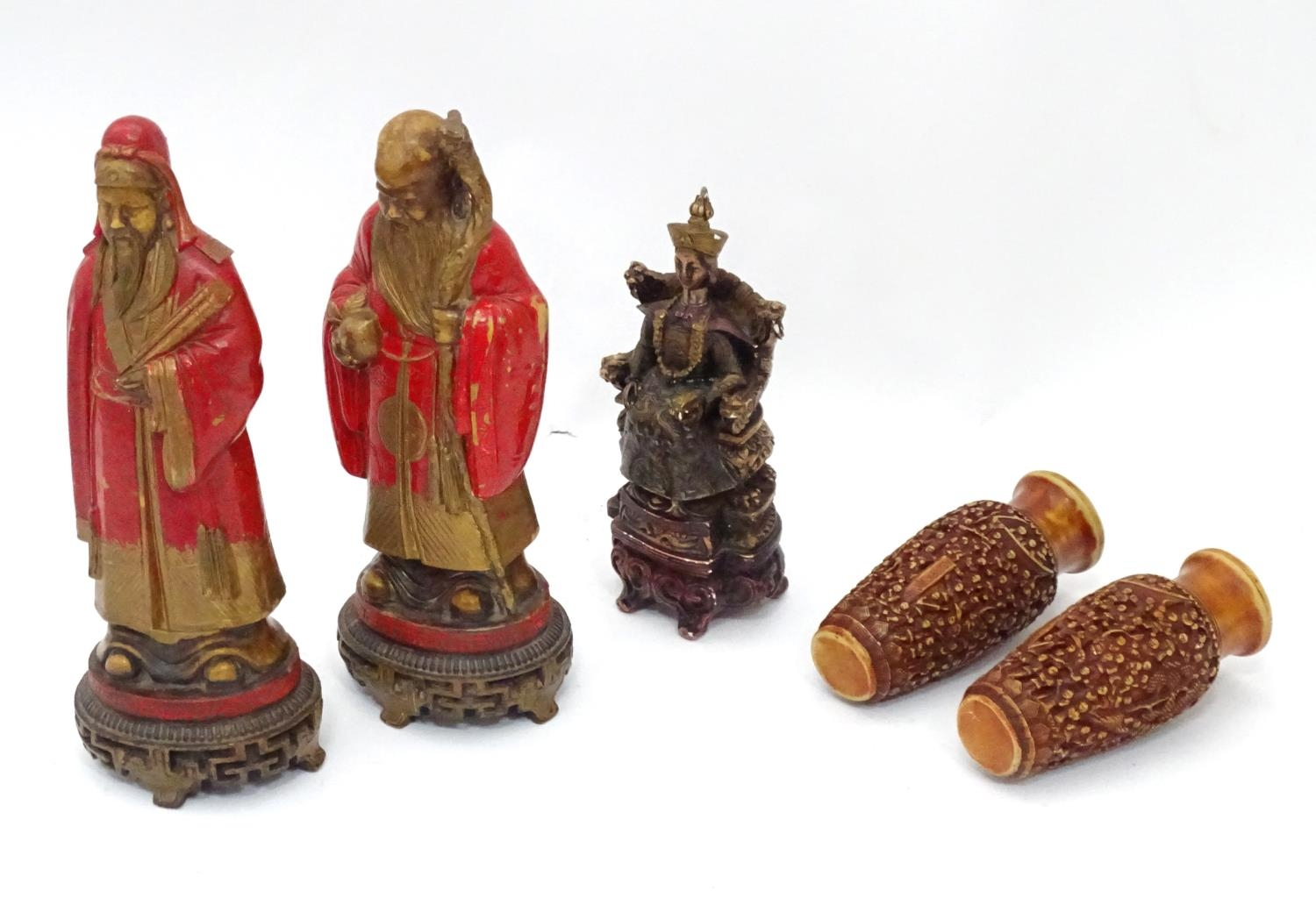 A quantity of Oriental figurines etc. Please Note - we do not make reference to the condition of - Image 5 of 6