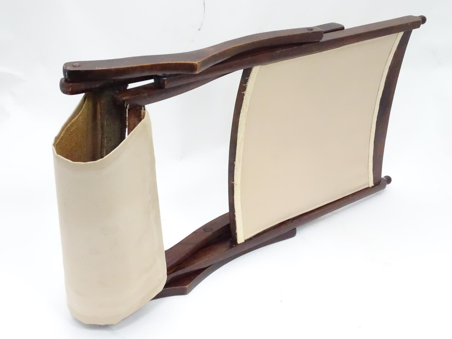 """A folding campaign / deck chair. Approx. 41"""" tall Please Note - we do not make reference to the - Image 4 of 5"""