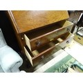 """A 20thC mahogany bureau on ball and claw feet. Approx. 40"""" high Please Note - we do not make - Image 4 of 4"""