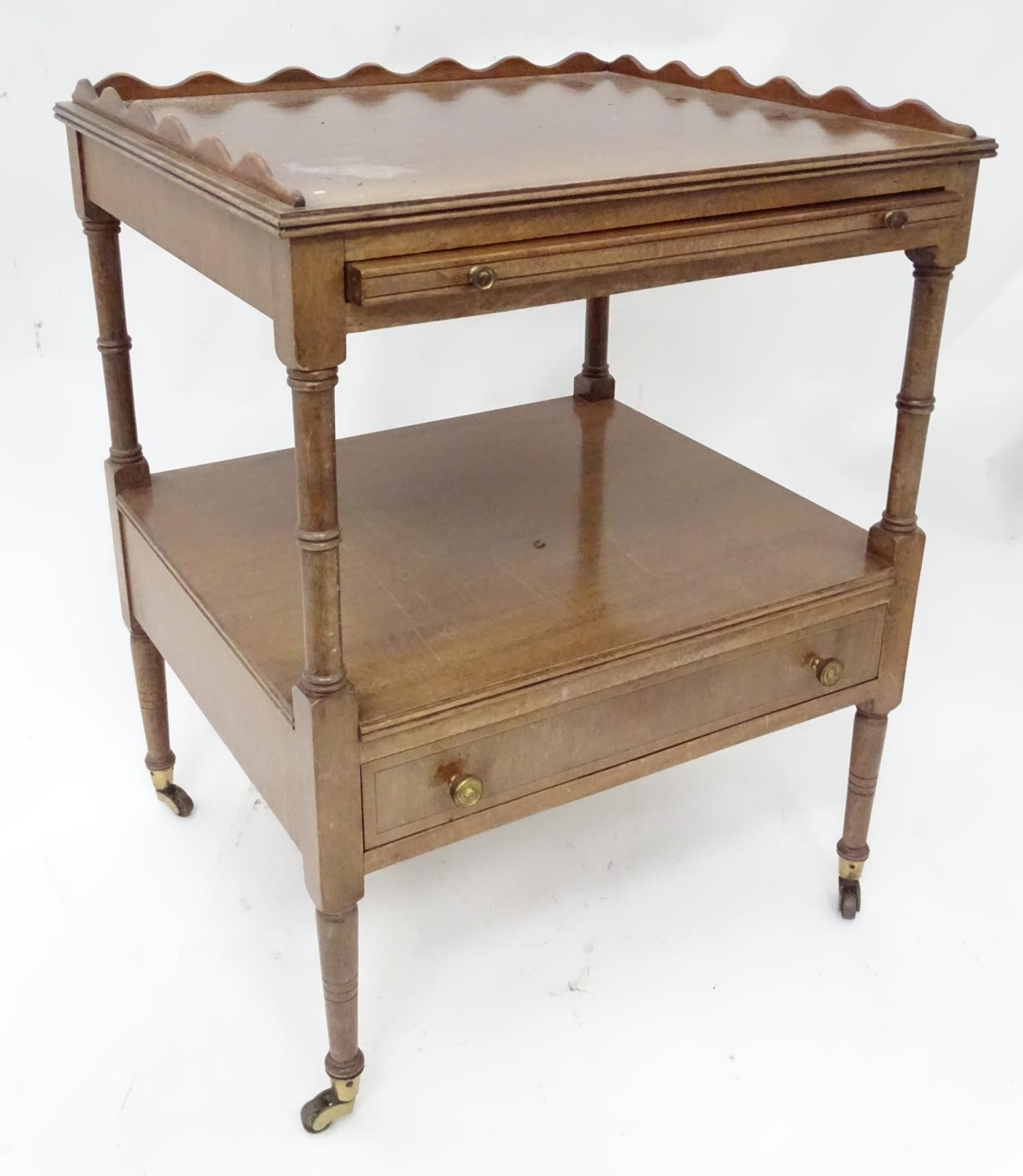 A small mahogany etagere Please Note - we do not make reference to the condition of lots within