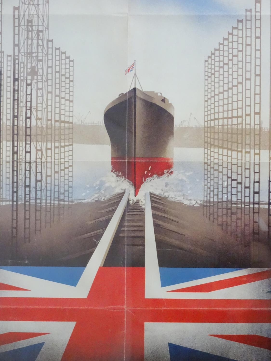 A Second World War / WW2 framed poster The Navy Thanks You signed Pat Kiely '43 Please Note - we - Image 4 of 4