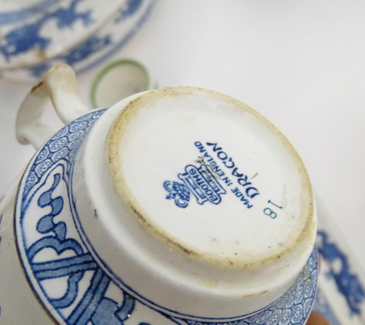 A large quantity of assorted Booths china to include teapots, plates, tureens, jugs, serving dishes, - Image 12 of 17