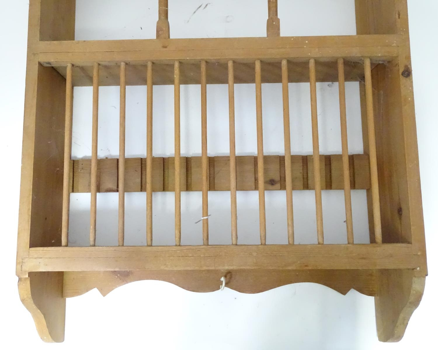 A pine plate rack together with a three tier buffet (2) Please Note - we do not make reference to - Image 5 of 9