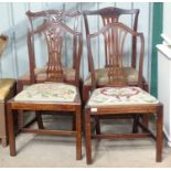 Four 19thC mahogany dining chairs Please Note - we do not make reference to the condition of lots