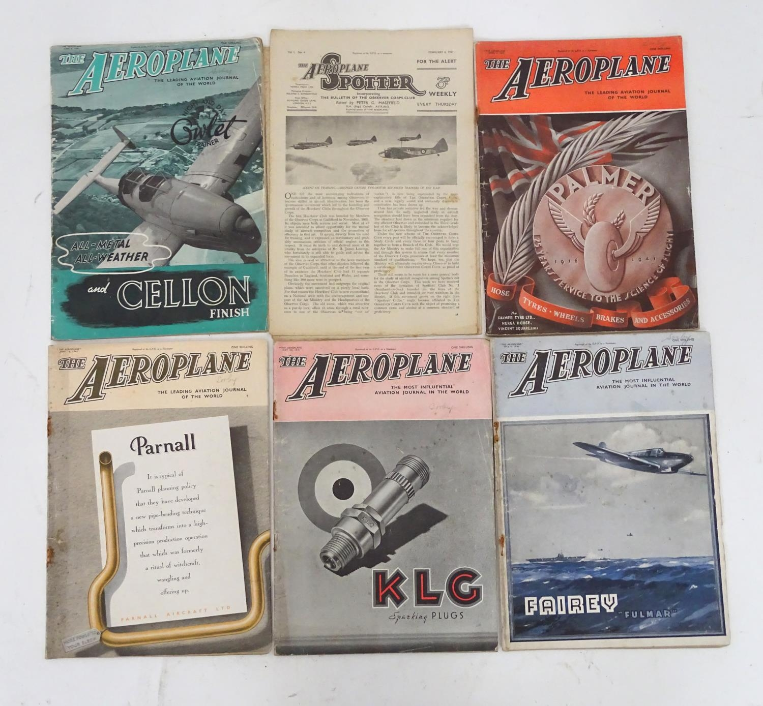 A quantity of 1941 copies of The Aeroplane Spotter magazine and The Aeroplane (8) Please Note - we
