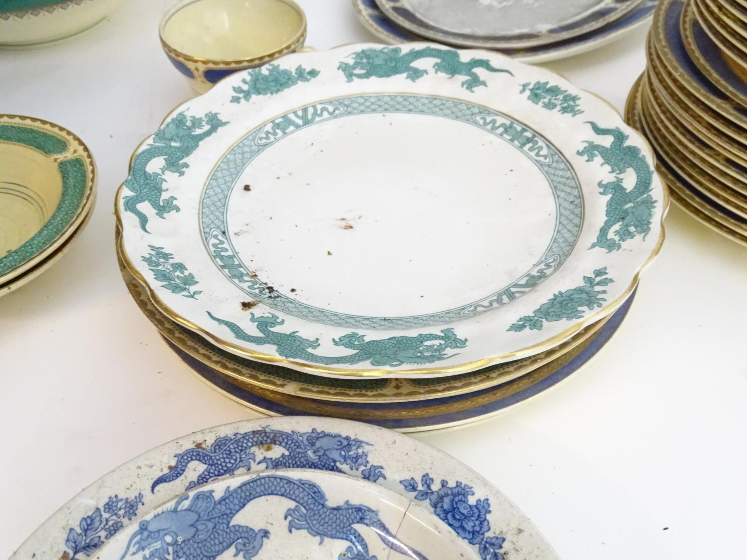 A large quantity of assorted Booths china to include teapots, plates, tureens, jugs, serving dishes, - Image 6 of 17