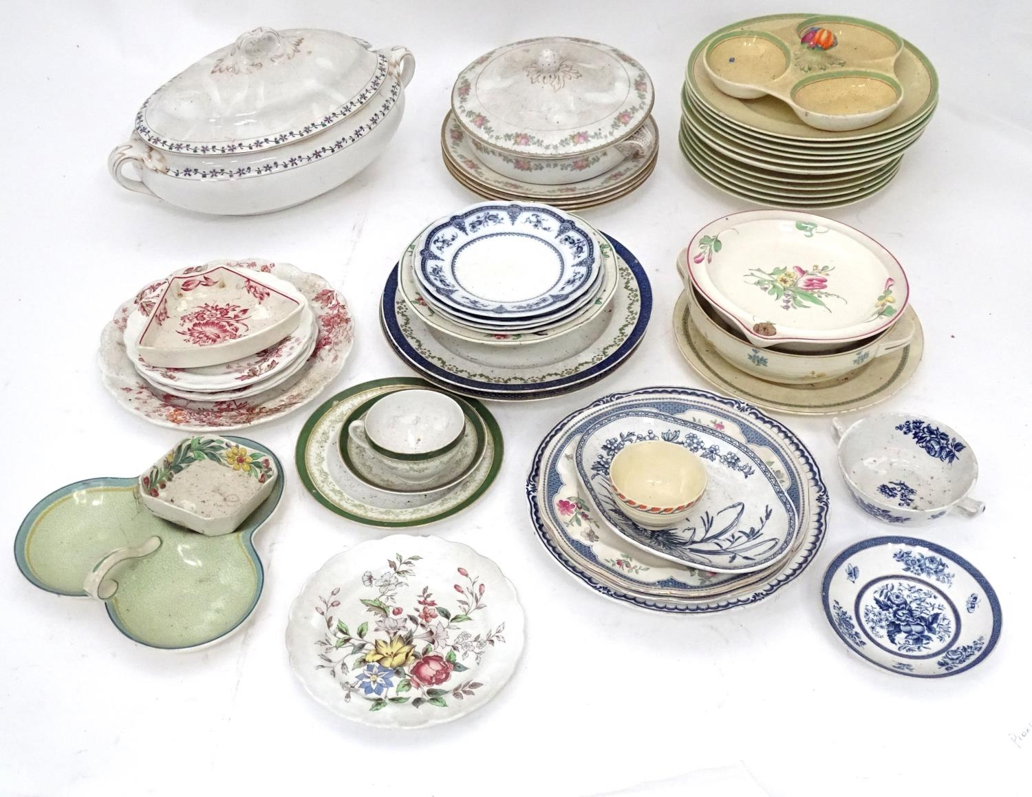 A quantity of assorted Booths china patterns to include Old Staffordshire, Flowerpiece, - Image 3 of 14